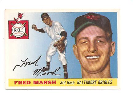 1955 Topps #13 Fred Marsh