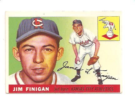1955 Topps #14 Jim Finigan RC
