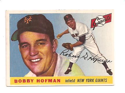 1955 Topps #17 Bobby Hofman