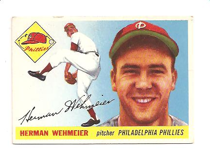 1955 Topps #29 Herman Wehmeier