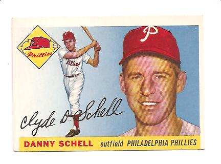 1955 Topps #79 Clyde (Danny) Schell RC