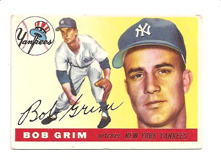 1955 Topps #80 Bob Grim RC