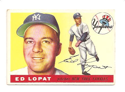 1955 Topps #109 Ed Lopat