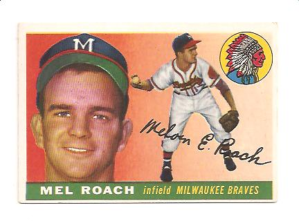 1955 Topps #117 Mel Roach