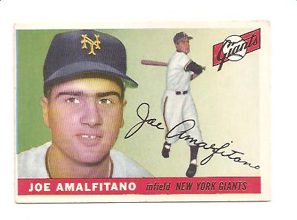 1955 Topps #144 Joe Amalfitano RC