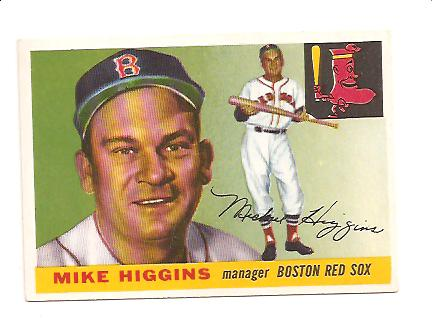1955 Topps #150 Mike Higgins MG