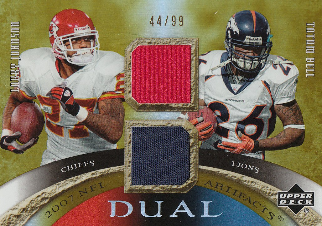 2007 Artifacts NFL Artifacts Dual #JB Larry Johnson/Tatum Bell