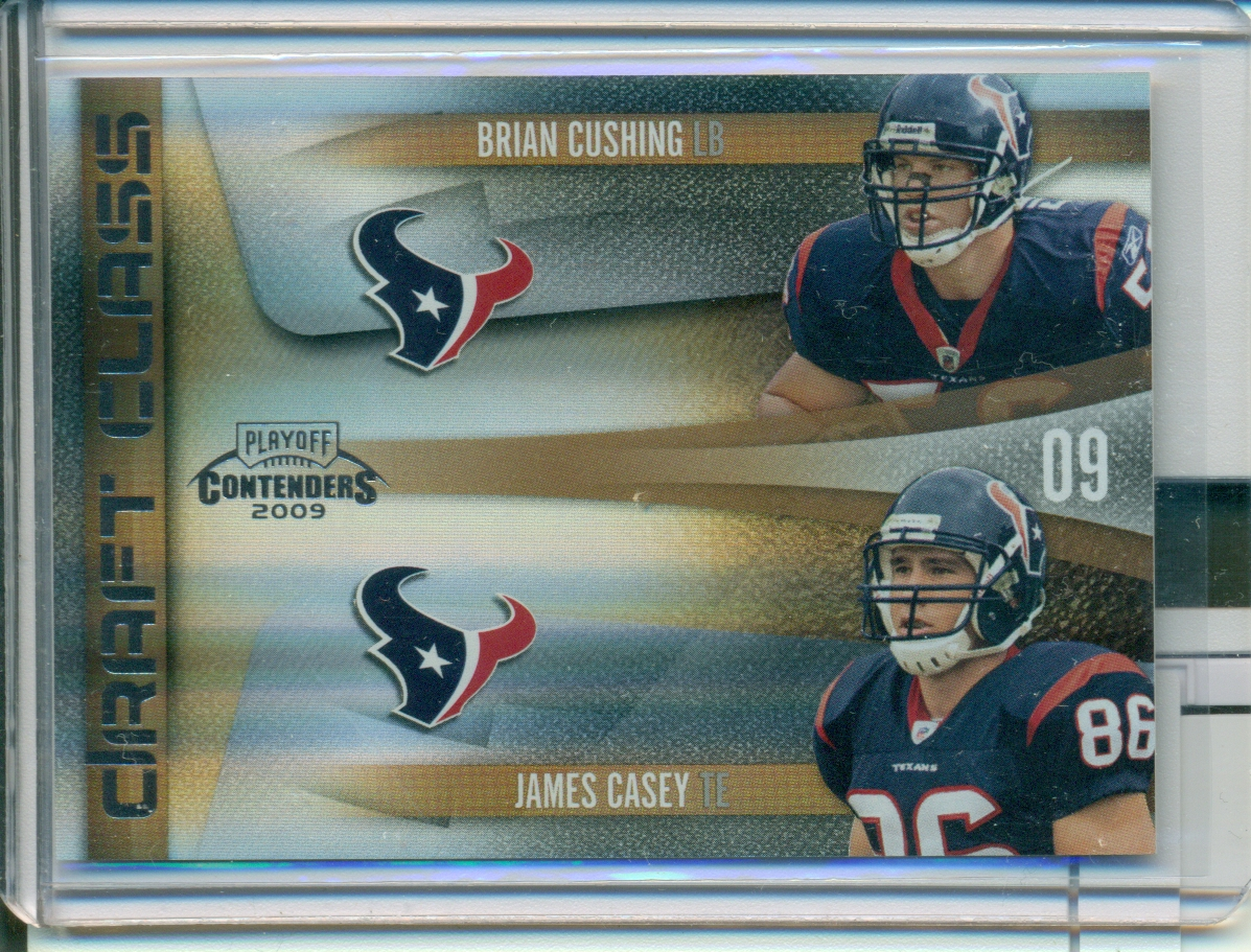2009 Playoff Contenders Draft Class Gold #10 Brian Cushing/James Casey