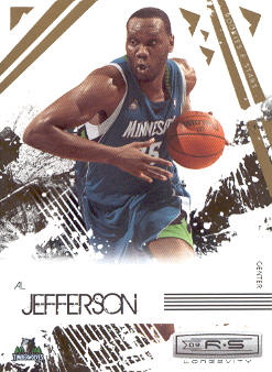 2009-10 Rookies and Stars Longevity #54 Al Jefferson