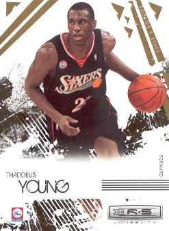2009-10 Rookies and Stars Longevity #75 Thaddeus Young