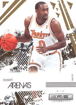 2009-10 Rookies and Stars Longevity #98 Gilbert Arenas