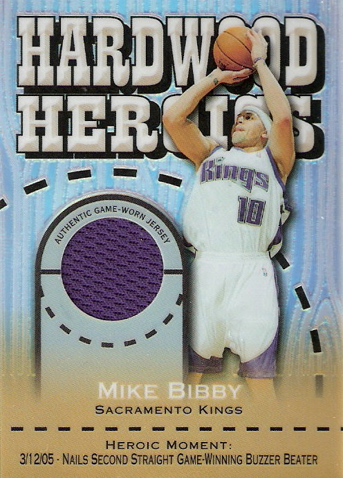 2005-06 Topps Chrome Hardwood Heroics Refractors #MB Mike Bibby
