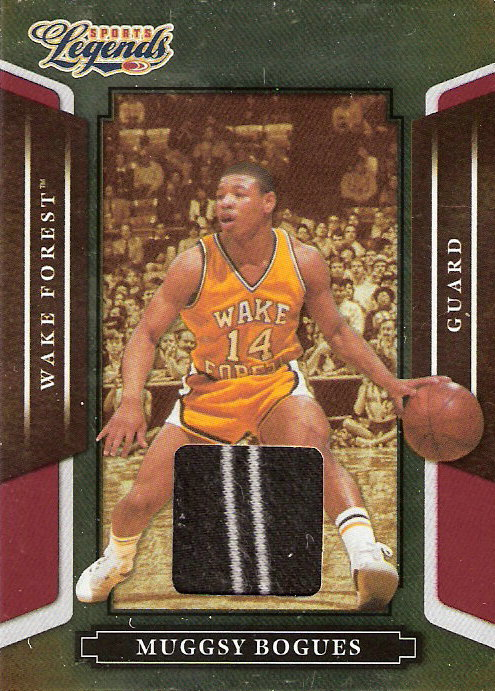 2008 Donruss Sports Legends Materials Mirror Red #112 Muggsy Bogues Jsy/500