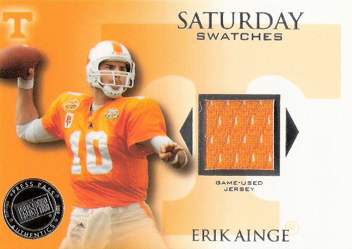2008 Press Pass Legends Saturday Swatches Silver #SSWEA Erik Ainge SP