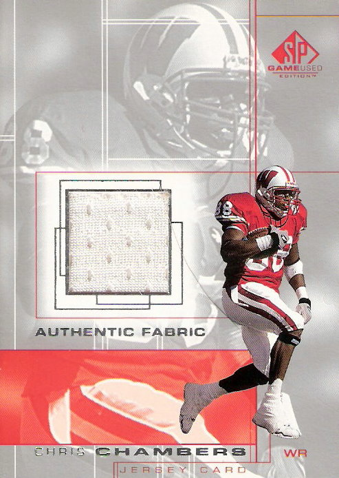 2001 SP Game Used Edition Authentic Fabric #CC Chris Chambers