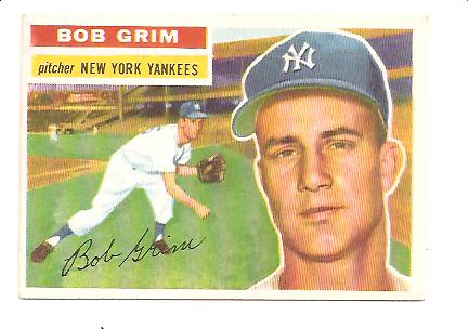 1956 Topps #52 Bob Grim DP