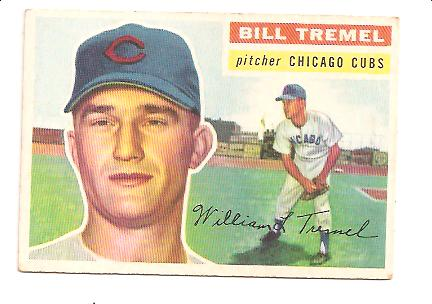 1956 Topps #96A Bill Tremel GB