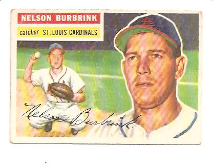 1956 Topps #27A Nelson Burbrink GB