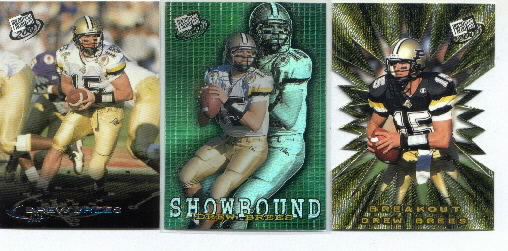 Drew Brees, 2001 Press Pass Showbound Insert Card #SB1