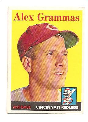 1958 Topps #254 Alex Grammas