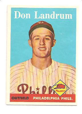 1958 Topps #291 Don Landrum RC