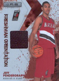 2009-10 Rookies and Stars Longevity Freshman Orientation Materials Jerseys #29 Jeff Pendergraph front image