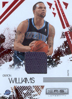 2009-10 Rookies and Stars Longevity Materials Ruby #93 Deron Williams/250