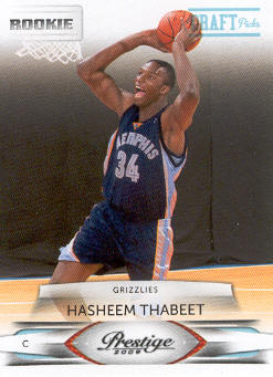 2009-10 Prestige Draft Picks Light Blue #202 Hasheem Thabeet front image
