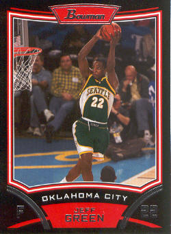 2008-09 Bowman #27 Jeff Green