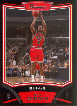 2008-09 Bowman #35 Ben Gordon