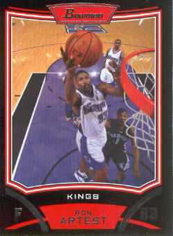 2008-09 Bowman #51 Ron Artest