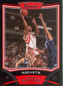 2008-09 Bowman #58 Shane Battier