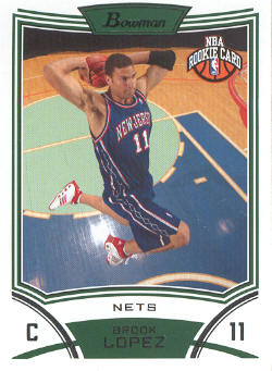 2008-09 Bowman #120 Brook Lopez RC