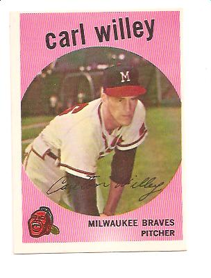 1959 Topps #95 Carl Willey