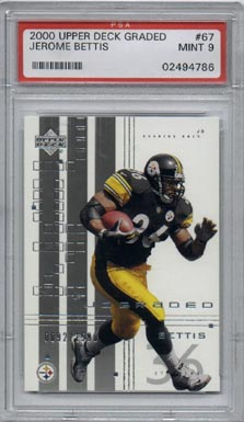 2000 Upper Deck Graded Football #67 Jerome Bettis PSA Mint 9 Pittsburgh STEELERS NICE!!