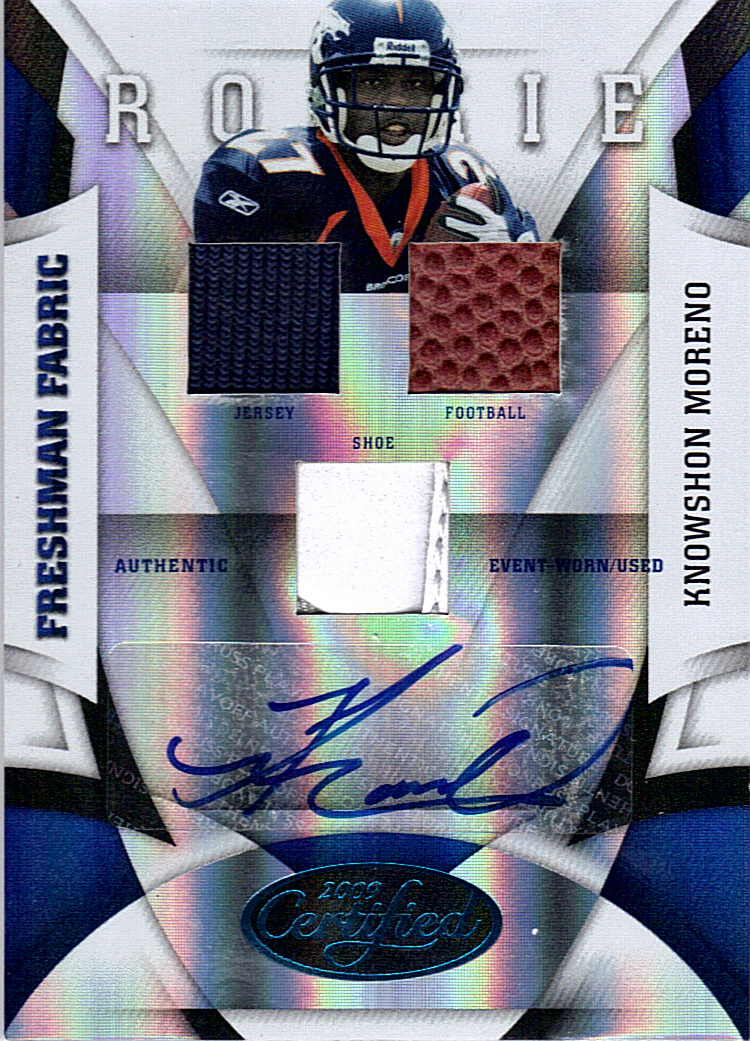 2009 Certified Mirror Blue #228 Knowshon Moreno JSY AU/25