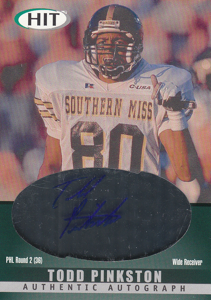 2000 SAGE HIT Autographs Emerald #40 Todd Pinkston