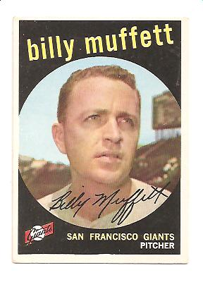 1959 Topps #241A Billy Muffett GB