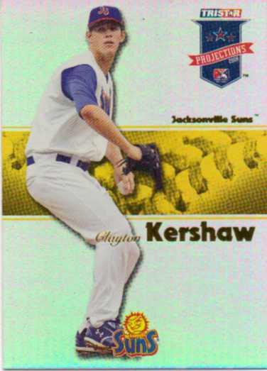 2008 TRISTAR PROjections Reflectives Yellow #263 Clayton Kershaw