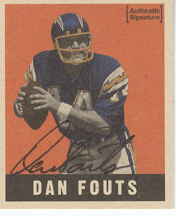 1997 Leaf Reproductions Autographs #14 Dan Fouts