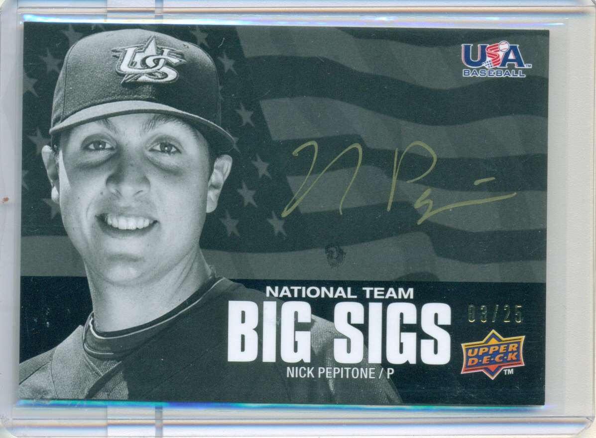 2009-10 USA Baseball National Team Big Sigs Gold #NP Nick Pepitone