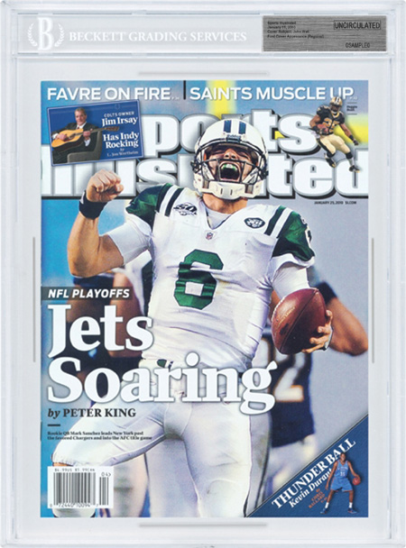 SPORTS ILLUSTRATED BGS Uncirculated MARK SANCHEZ 1/25/10 front image