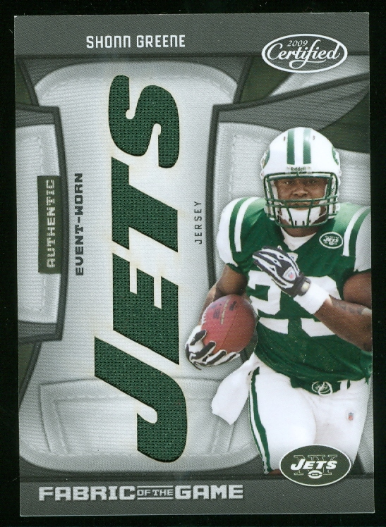 2009 Certified Rookie Fabric of the Game Team Die Cut #10 Shonn Greene