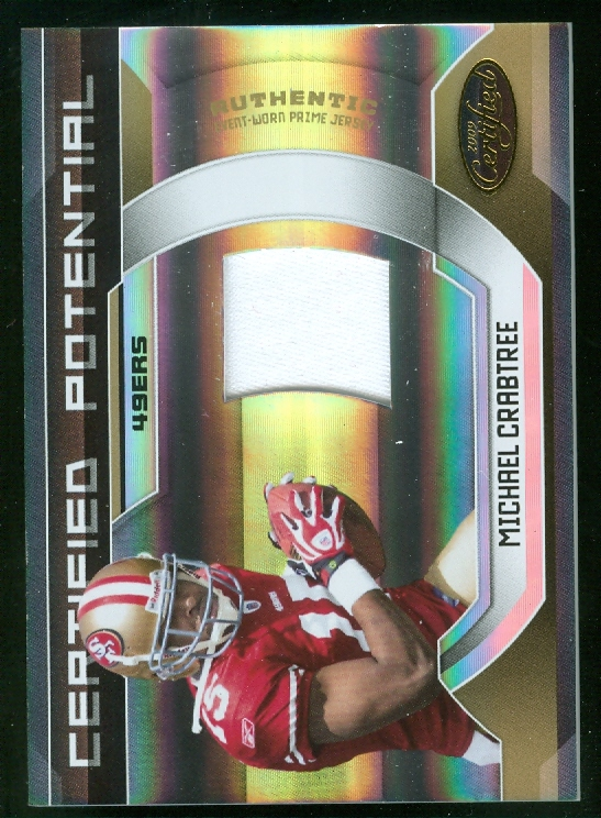 2009 Certified Certified Potential Materials Prime #13 Michael Crabtree