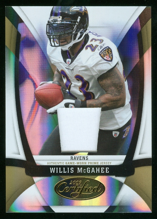 2009 Certified Mirror Gold Materials #13 Willis McGahee/50