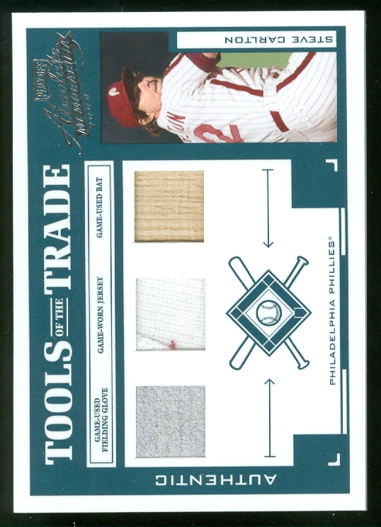 2004 Absolute Memorabilia Tools of the Trade Material Trio #137 Steve Carlton/25