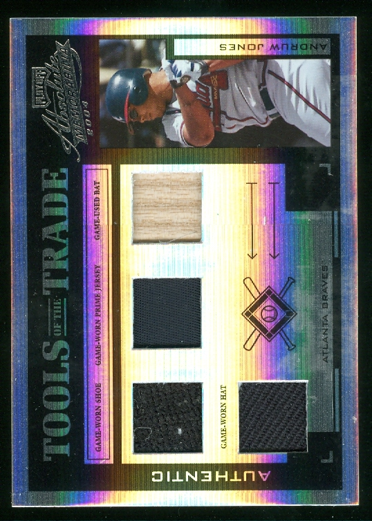2004 Absolute Memorabilia Tools of the Trade Material Quad PS #12 Andruw Jones A/10