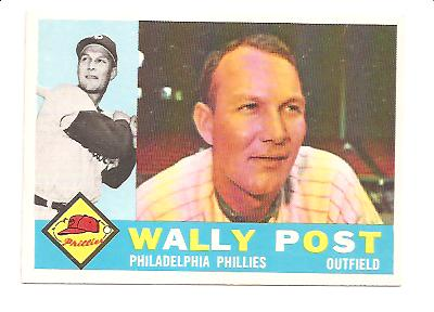 1960 Topps #13 Wally Post