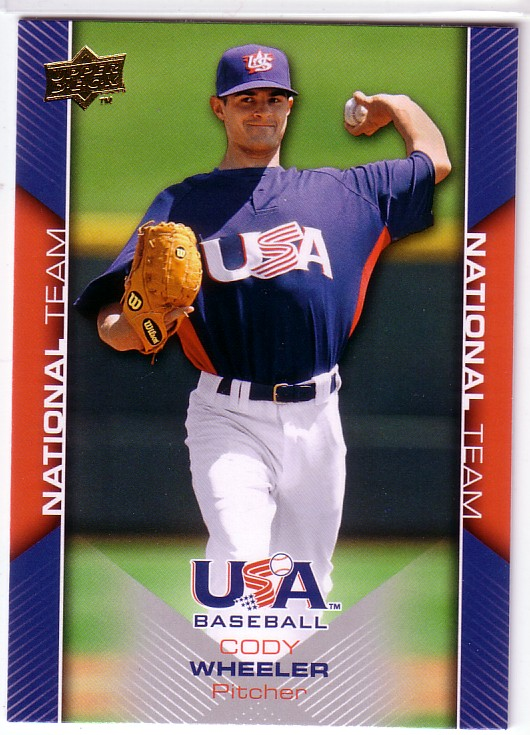 2009-10 USA Baseball #USA3 Cody Wheeler