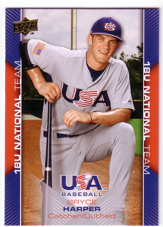 2009-10 USA Baseball #USA30 Bryce Harper